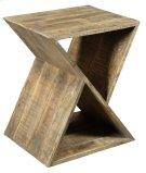 Bengal Manor Mango Wood Angled End Table Product Image