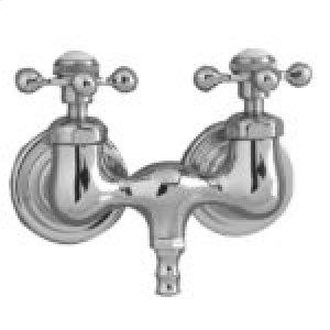 Clawfoot Tub Filler - Metal Cross Handles - Polished Chrome