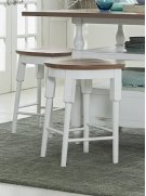 Counter Stool - Light Oak/Distressed White Finish Product Image
