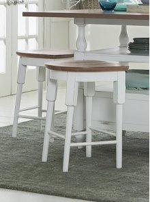 Counter Stool - Light Oak/Distressed White Finish