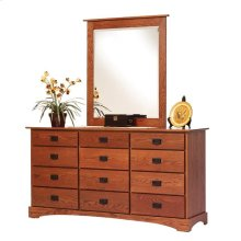 "Old English Mission 56"" Dresser- Mirror"