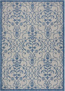 Country Side Ctr04 Ivory Blue Rectangle Rug 5'3'' X 7'3''