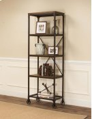 Craft Rustic Elm Slim Bookcase Product Image