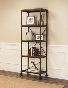 Craft Rustic Elm Slim Bookcase