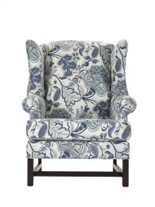 High Back Chair with Cherry Chippendale Base