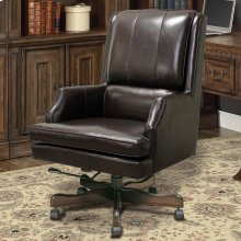 DC#107 Sable Leather Desk Chair