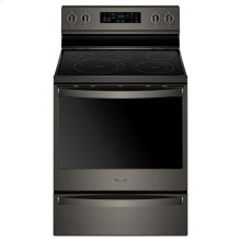 Whirlpool® 6.4 Cu. Ft. Freestanding Electric Range with Frozen Bake Technology - Black Stainless