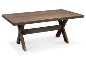 "Wildwood Trestle Table, Wildwood Trestle Table, 42""x72"", Solid Top"