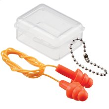 Noise reducing earplugs with travel case