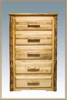 Glacier Country Log 5 Drawer Chest of Drawers