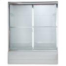 Prestige Sliding Bath Shower Doors - Brushed Nickel Product Image