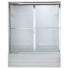 Prestige Sliding Bath Shower Doors - Brushed Nickel