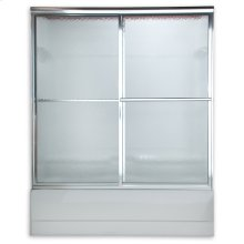Prestige Sliding Bath Shower Doors - Brushed Nickel