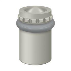 "Round Universal Floor Bumper Pattern Cap 2"", Solid Brass - Brushed Nickel"