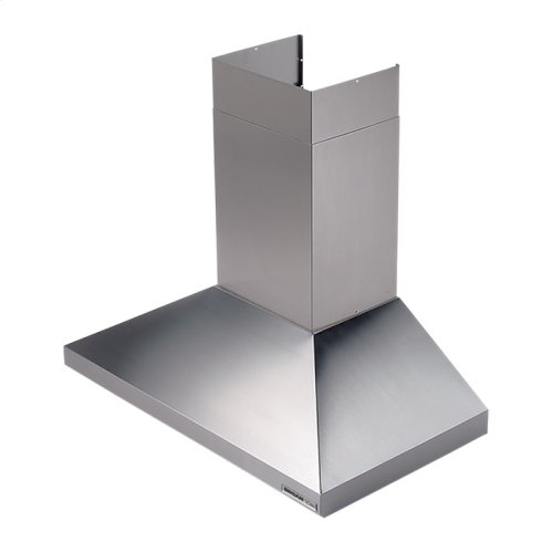 "30"" 450 CFM Stainless Steel Chimney Hood, Internal Blower"