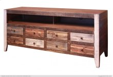 """68"""" TV Stand w/ 8 Drawer - Includes wire management on back panel."""
