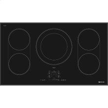 "Black Floating Glass 36"" Induction Cooktop, Black"