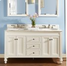 "Crosswinds 60"" Double Bowl Vanity - White Product Image"