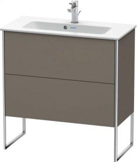 Vanity Unit Floorstanding Compact, Flannel Grey Satin Matt Lacquer