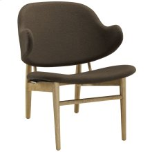 Suffuse Upholstered Fabric Lounge Chair in Natural Brown