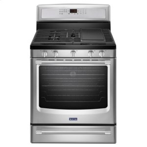 MAYTAG30-inch Wide Gas Range with Convection and Warming Drawer - 5.8 cu. ft.
