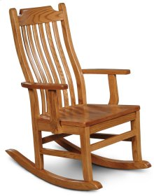 Urbandale Arm Rocker, Wood Seat