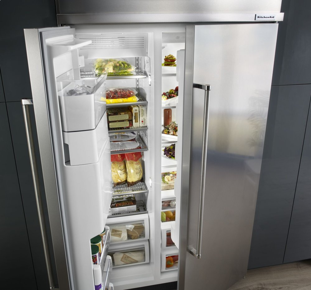 29.5 Cu. Ft 48 Inch Width Built In Side By Side Refrigerator With