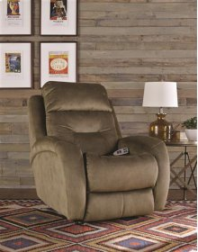 Power Rocker Recliner with Power Headrest and Lumbar Upgrade