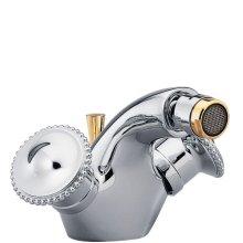 Single Hole, 2 Handlebidet Faucet With Drain