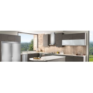 36'' Glass and Stainless Canopy Wall-Mount Hood