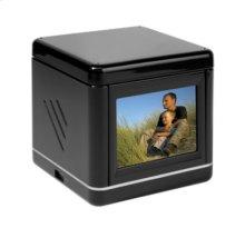 "Media Cube - 3.2"" Digital Photo Frame with Alarm Clock"