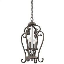 Monroe Collection Foyer Pendant/Cage 4Lt OZ
