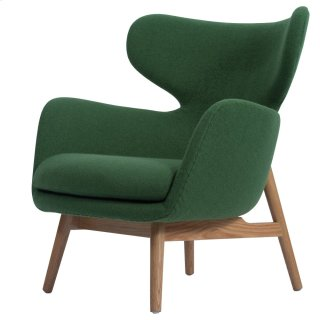Devana Fabric Accent Chair Natural Legs, Forest Green