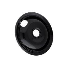 Smart Choice 8'' Black Porcelain Drip Bowl, Fits Most