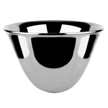 Vessel ceramic sink, 11.81 HIGH X 19.68 DIAMETER, polished silver