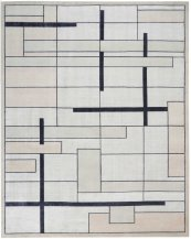 Christopher Guy Wool & Silk Collection Cgs19 Silvery Moon Rectangle Rug 8' X 10'