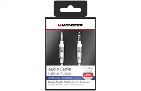 Mobile Audio Cable - 4ft or 8ft - 4 feet / White/Silver