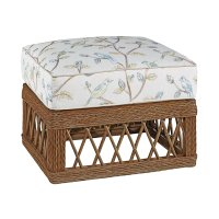 Trellis Wicker Ottoman Product Image