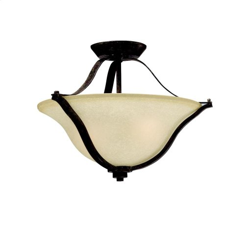Langford Collection Langford 2 light Pendant/Semi Flush NI