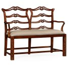 Chippendale Style Double Bench with Pierced Back Product Image