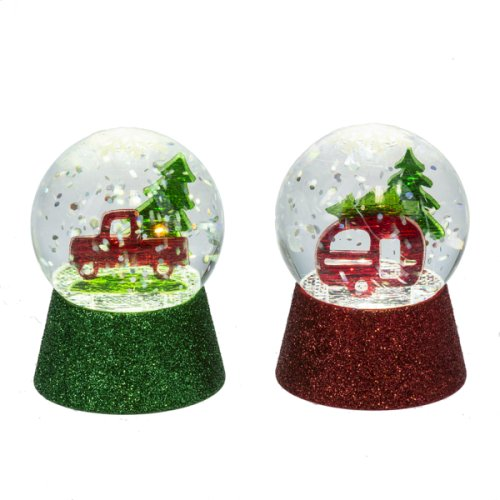 Lighted LED Truck & Camper with Tree Mini Shimmer. (24 pc. ppk.)