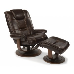 FLEXSTEELHOMESpencer Leather Chair and Ottoman