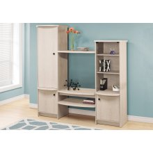 BOOKCASE - WASHED OAK / STORAGE UNIT