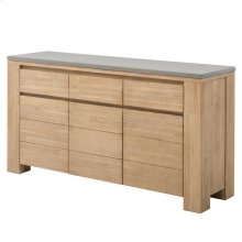Boston Sideboard with Concrete Top, Brushed Smoke