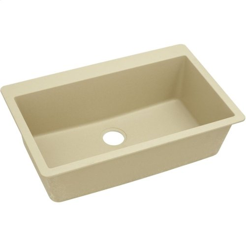 "Elkay Quartz Classic 33"" x 20-7/8"" x 9-7/16"", Single Bowl Drop-in Sink, Sand"