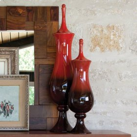 Tower Jar-Ruby-Lg