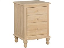 Unfinished Cottage 3 Drawer Nightstand
