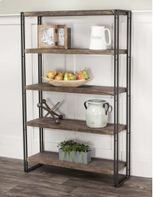 Dawn-reclaimd Oak/blk Bookcase
