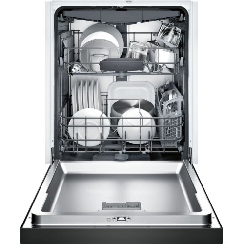 300 Series built-under dishwasher 24'' Black SHE863WF6N