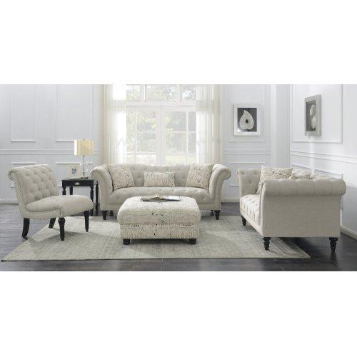 Emerald Home Hutton II Loveseat Nailhead W- 2 Pillows Natural U3164-01-29